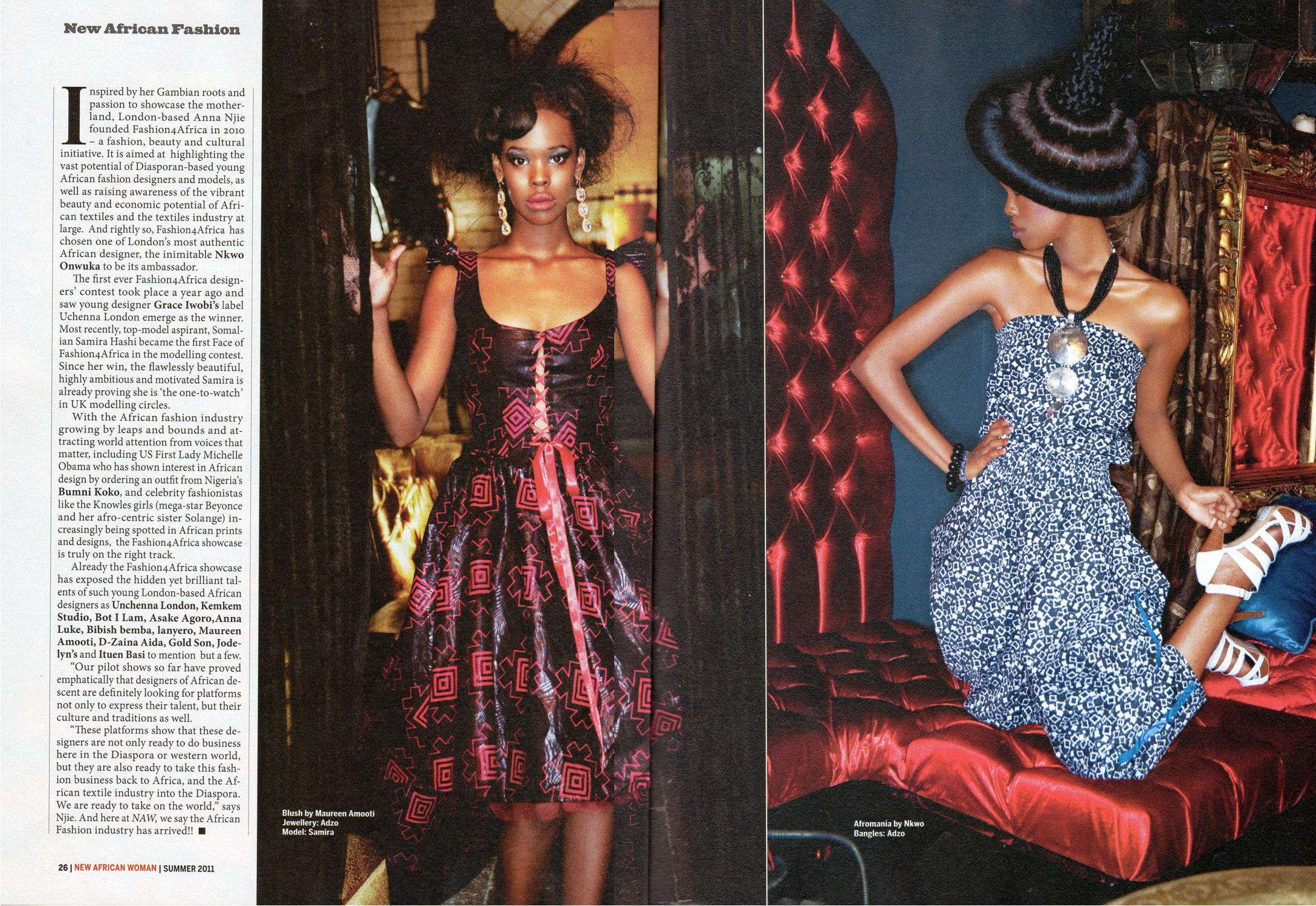 My Stylist Work My Work Featured In New African Woman Magazine Erica Matthews