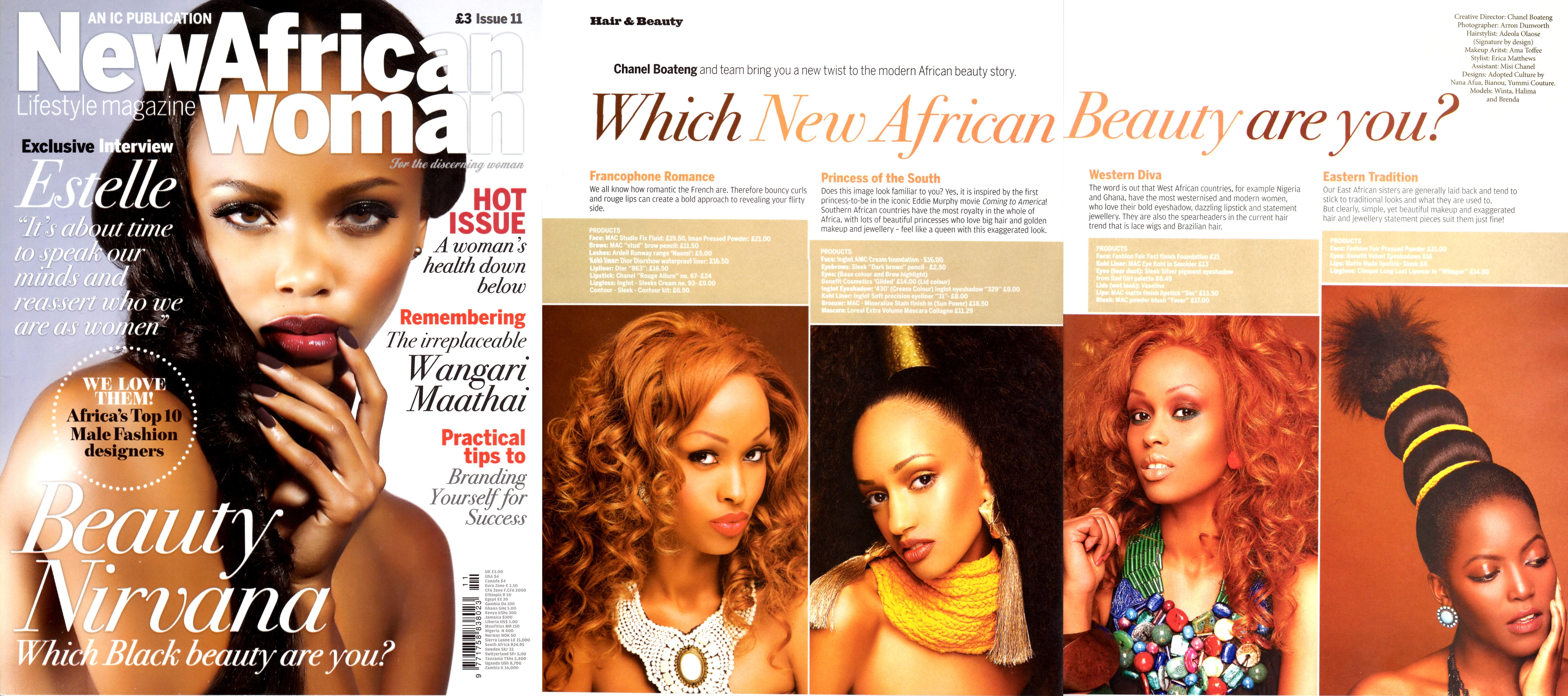 MY STYLIST WORK: BEHIND THE SCENES OF NEW AFRICAN WOMAN; EAST AFRICAN BEAUTY SHOOT!!