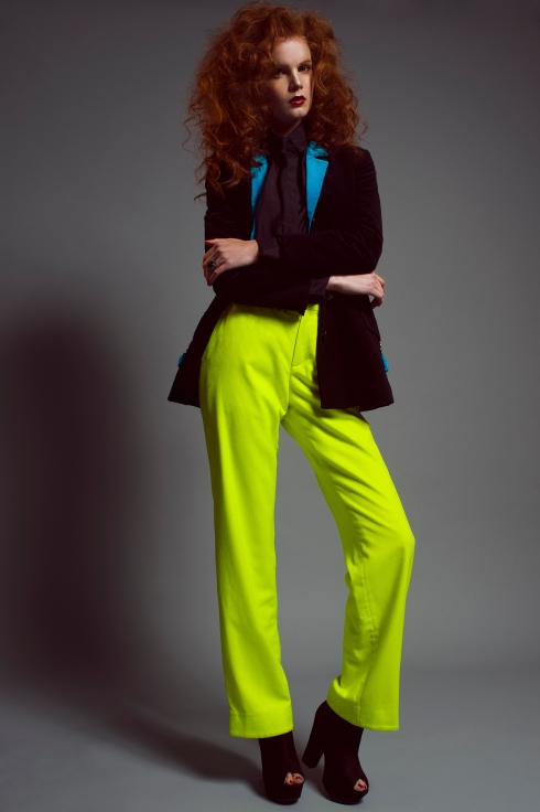 ANDROGYNY FASHION EDITORIAL RIO ROMAINE STRAWBERRY ROSE  70'S  COLOUR BLOCK NEON NATALIA KAUT