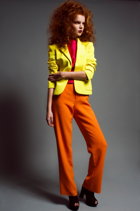 ANDROGYNY FASHION EDITORIAL RIO ROMAINE STRAWBERRY ROSE  70'S  COLOUR BLOCK NEON