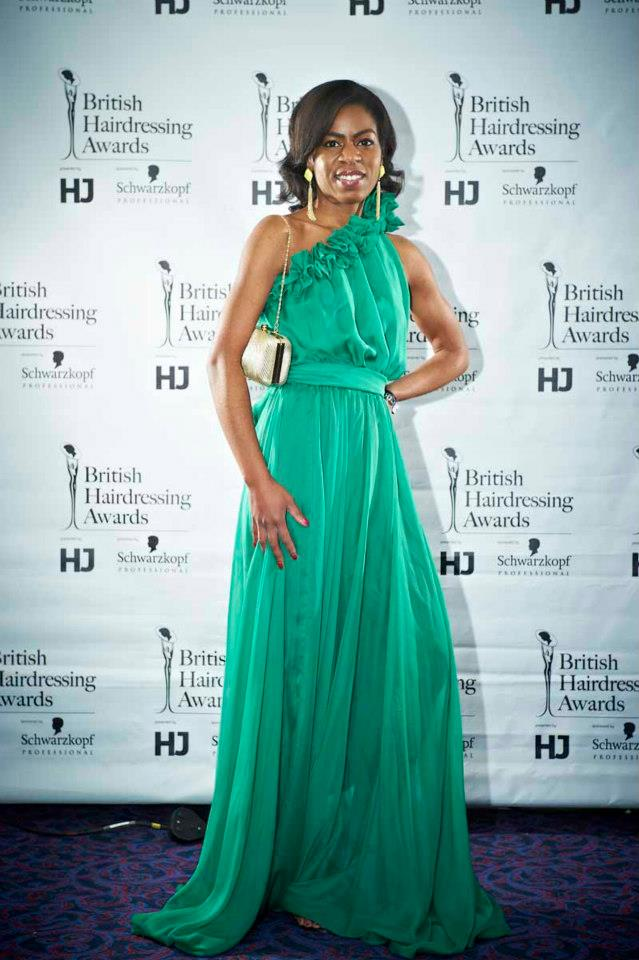 MY PORTFOLIO: MY CLIENT AT BRITISH HAIRDRESSING AWARDS 'BEST DRESSED GALLERY'!!