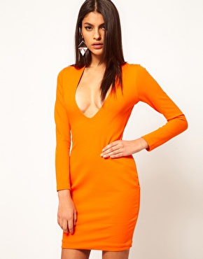 Lola Rae watch my ting go orange dress AQUA ORANGE DRESS ON ASOS