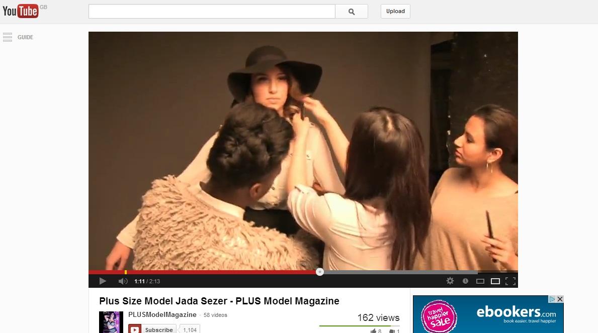 youtube behind the scenes PLUS MODEL MAGAZINE model jada sezer plus size fashion