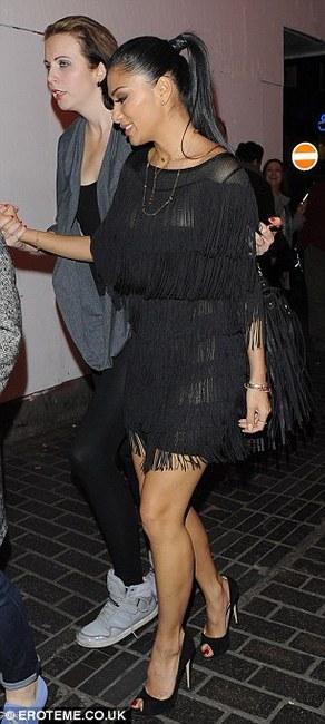 lola rae watch my ting go black fringe tassel dress topshop as seen on nicole scherzinger