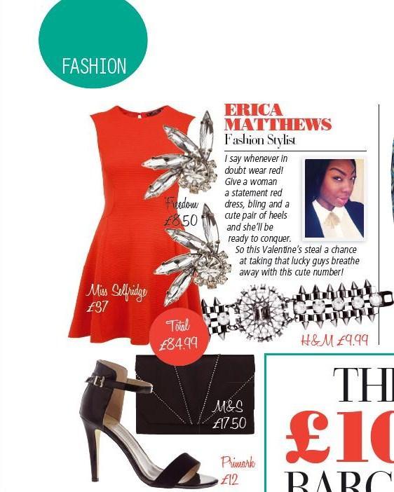 london fashion stylist erica matthews style expert pride magazine february 2013 valentines day outfit ideas