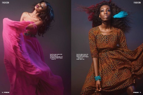 black model Pride Magazine Kaleidoscope fashion editorial