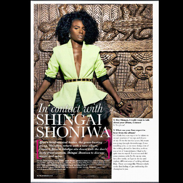 Shingai shoniwa black hair magazine Natalia kaut 2012 5