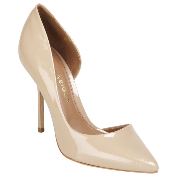 Kim Kardashian Bonarooo style get the look KURT GEIGER WOMEN'S ANJA PATENT LEATHER HEELED COURT SHOES - NUDE £180.00