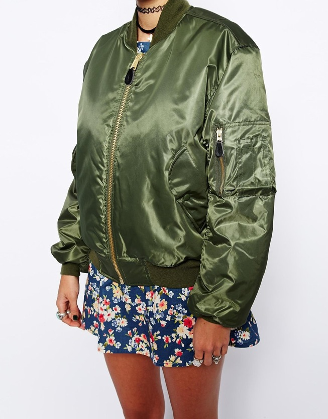 Kim Kardashian bonnaroo kanye west bomber jacket Reclaimed Vintage Flying Bomber Jacket £85.00