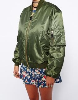 Kim Kardashian bonnaroo kanye west bomber jacket Reclaimed Vintage Flying Bomber Jacket £85.00