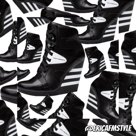 YOHJI YAMAMOTO Adidas Y3 wedges monochrom cheryly cole designer vogue celebrity rihanna