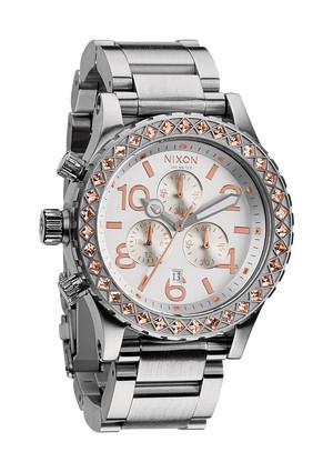 Nixon watch timepieces 200 meter watch THE 42-20 CHRONO crystal high fashion rihanna kim kardashian