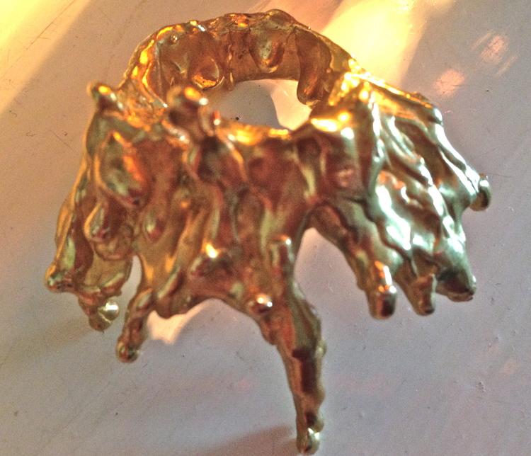 Lucky Little blighters do it fluid brass ring jewellery celebrity red carpet inspiration rihanna kim kardashian rita ora model cars delevigne