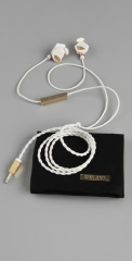 Molami WHite earbudy earphones leather designer music rihanna celebrity sane PR publicity