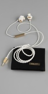 Molami WHite earbudy earphones leather designer music rihanna celebrity sane PR publicity