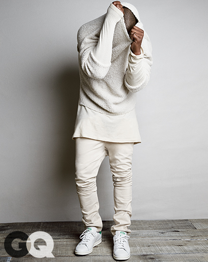 Kanye west for GQ Kimye Kim Kardshian Style street fashion editorial 2014 blogger man crush monday MCM