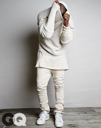 Kanye west for GQ Kimye Kim Kardshian Style street fashion editorial 2014 blogger man crush monday MCM