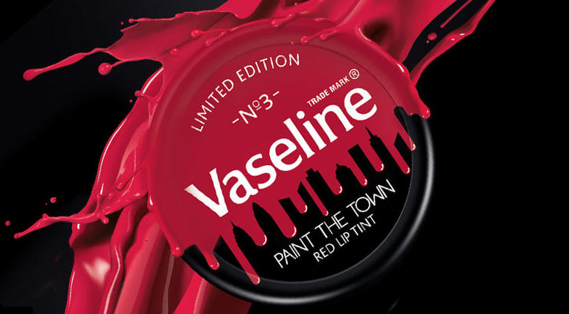 vaseline paint the town red limited edition red lip tint lip balm summer holiday kim kardashian kendal jenner rihanna style celebrity beauty get the look