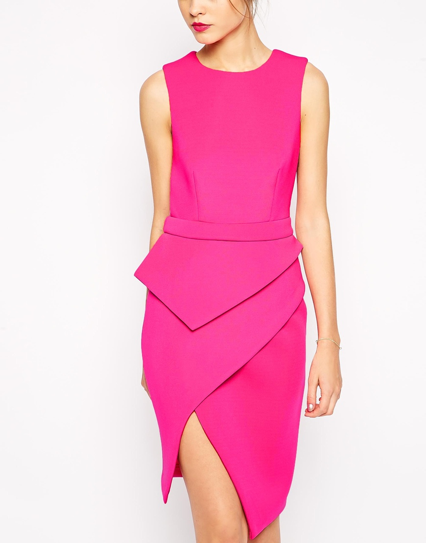 Rihanna pink dress helmut lang get the look august 2014 new york dinner date