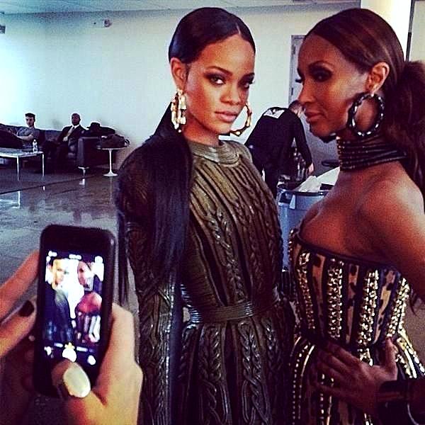 Rihanna iman naomi campbell w magazine wild black models women supermodel balmain oliver rousting behind the scenes