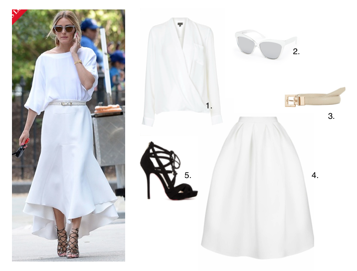 GET THE LOOK: VOGUE.COM'S BEST DRESS 'OLIVIA PALERMO' – IN ALL WHITE CHIC TO HIGH STREET!!