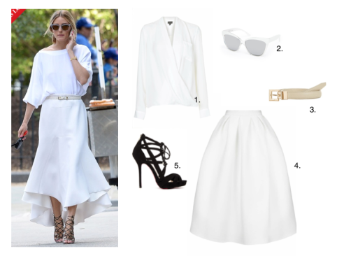 Olivia PalerMo all white new york high street fashion celebrity vogue best dress get the look