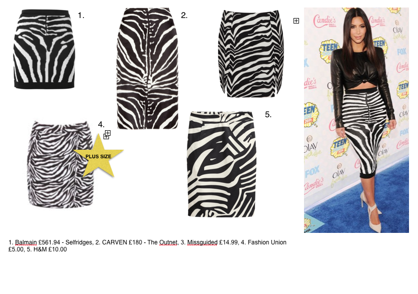 kim kardashian balmain zebra teen choice awards 2014 get the look kendall kylie jenner sisters