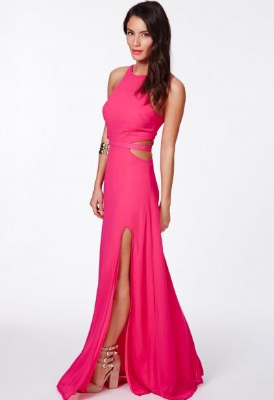 Rihanna pink dress helmut lang august 2014 new york dinner date