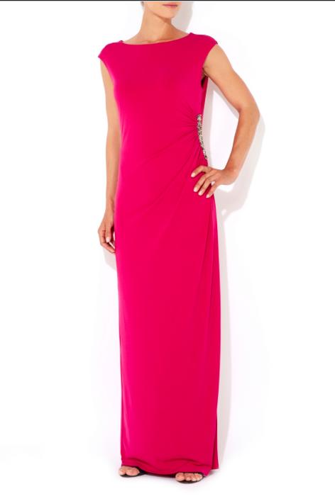 Rihanna pink dress helmut lang get the look august 2014 new york dinner date