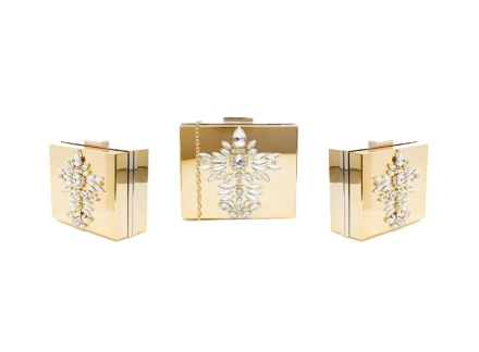 Skinnydip Gold Embellished Clutch Bag