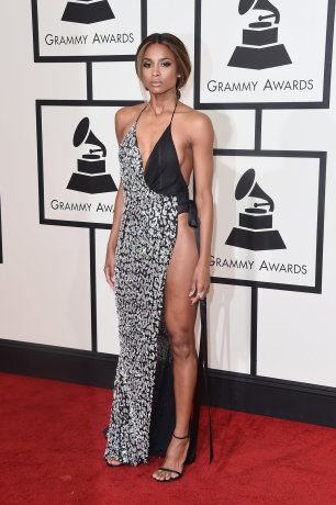 Ciara wearing Alexabdre Vauthier at Grammys red carpet 2016 /The 58th GRAMMY Awards