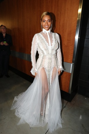 Beyonce wearing Inbal Dror at Grammys red carpet 2016 /The 58th GRAMMY Awards