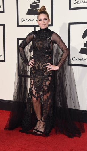Skylar Grey at the Grammys red carpet 2016 /The 58th GRAMMY Awards