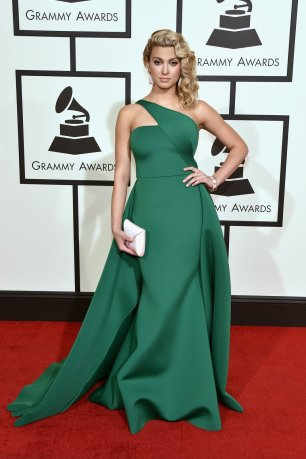 Tori Kelly wearing Gauri and Nainika at Grammys red carpet 2016 /The 58th GRAMMY Awards